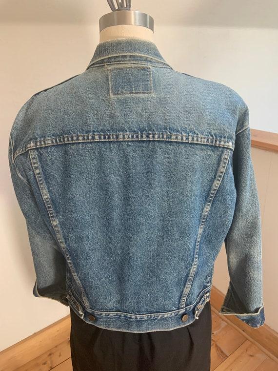 """Vintage Wrangler Jean Jacket  40"""" - image 3"""