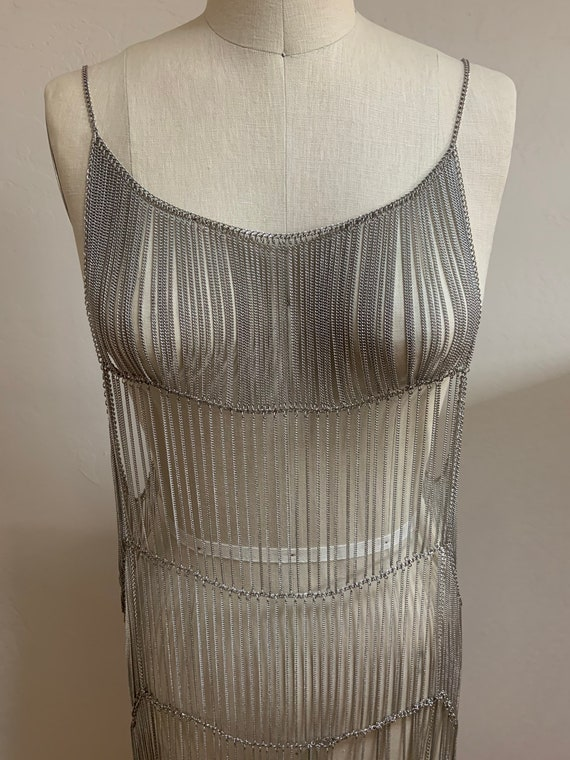Free People Collection Metal Chain Flapper Dress - image 1