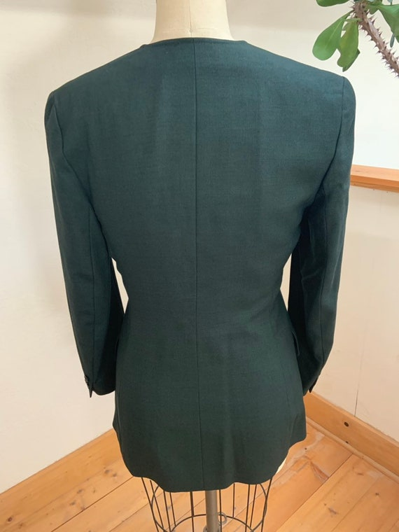 Vintage 1990's Jaeger Green Double Breasted Blazer - image 7