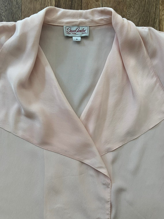 Vintage 1980's Pink Blouse Medium - image 6