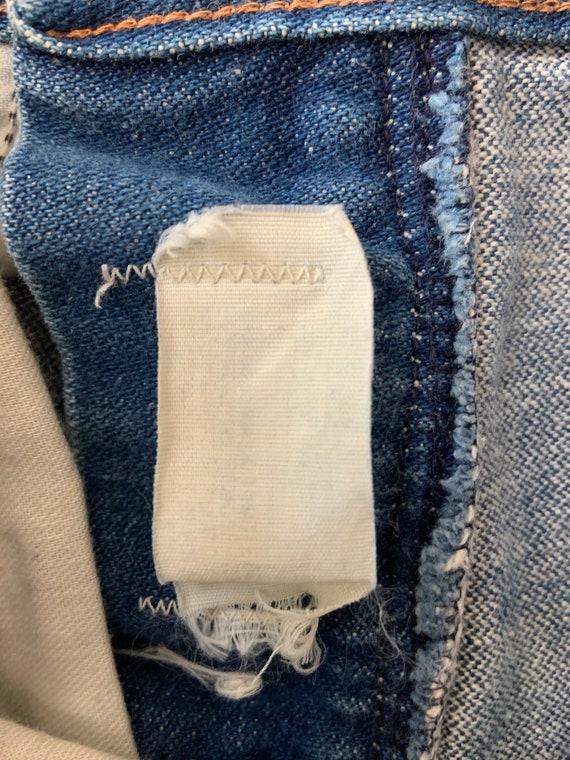 """Vintage 1970's Wrangler Bellbottom Jeans 26"""" Waist - image 8"""