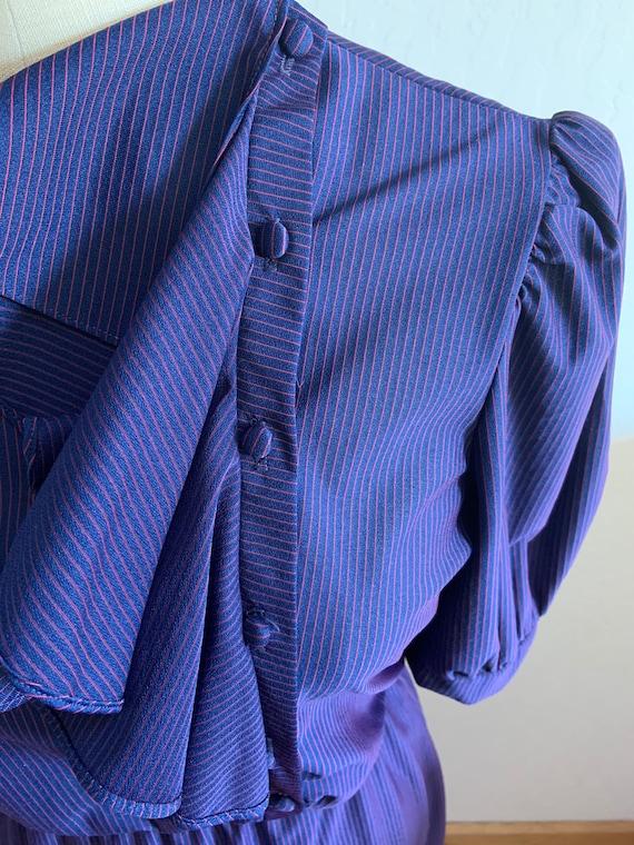 Vintage 1980's Striped Dress Medium - image 5
