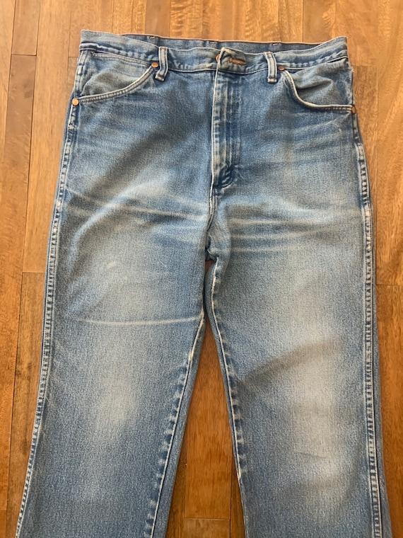 Vintage Faded Wrangler Jeans 34/36 - image 1