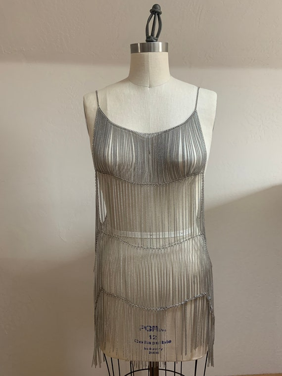 Free People Collection Metal Chain Flapper Dress - image 7