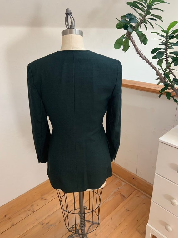 Vintage 1990's Jaeger Green Double Breasted Blazer - image 10