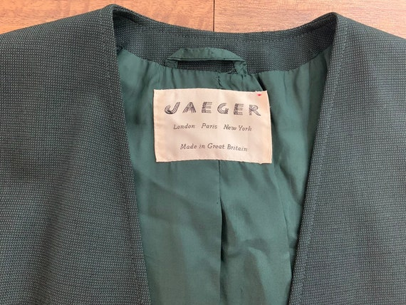 Vintage 1990's Jaeger Green Double Breasted Blazer - image 2