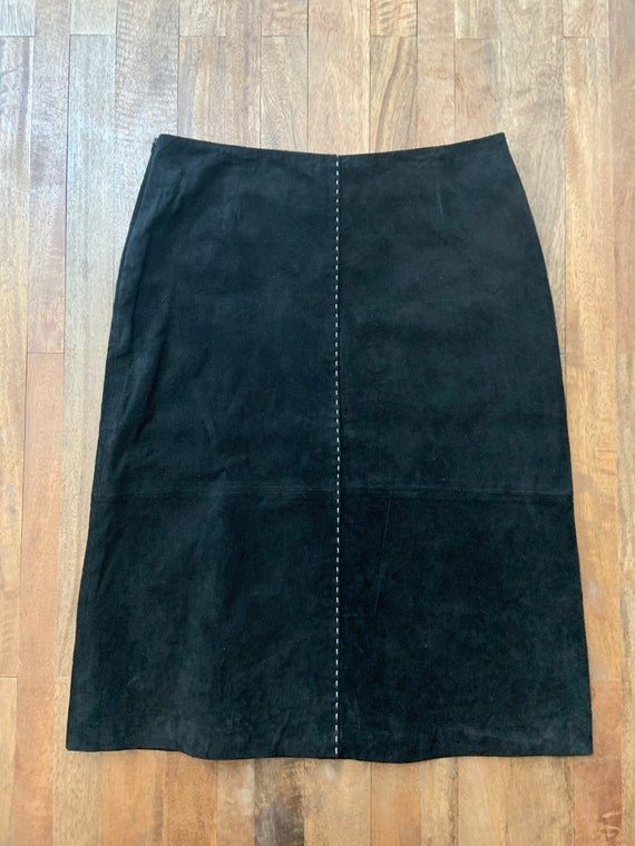 Black Suede A-Line Skirt Size 6