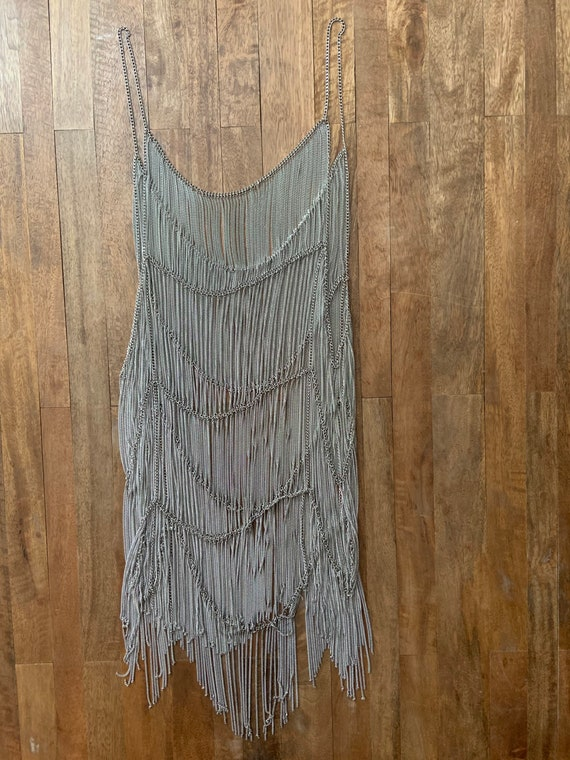 Free People Collection Metal Chain Flapper Dress - image 4