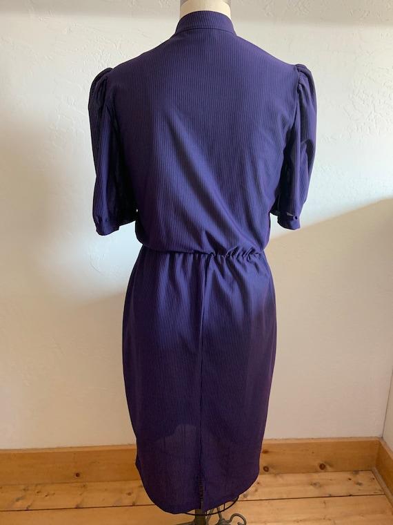 Vintage 1980's Striped Dress Medium - image 6