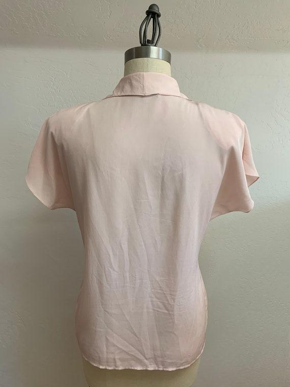 Vintage 1980's Pink Blouse Medium - image 3
