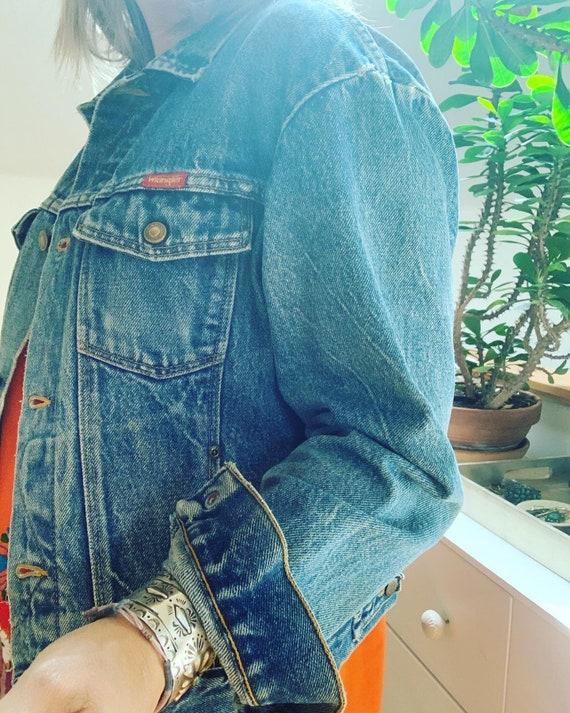 """Vintage Wrangler Jean Jacket  40"""" - image 2"""