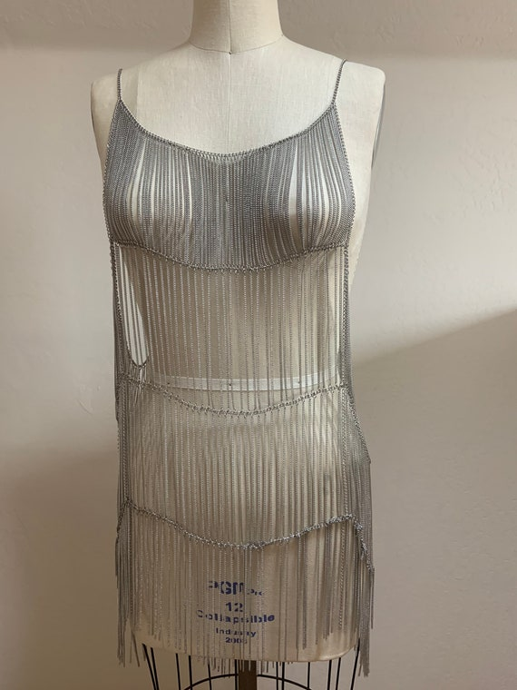 Free People Collection Metal Chain Flapper Dress - image 6