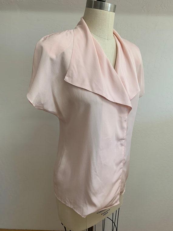 Vintage 1980's Pink Blouse Medium - image 2