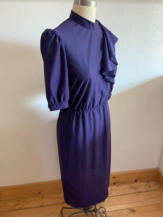 Vintage 1980's Striped Dress Medium - image 4