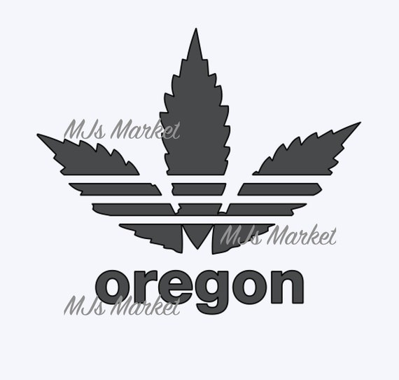 Svg File Oregon Pot Leaf Svg Cut File Only Weed 420 Etsy