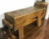 """For Charles - Large Barn Beam Bench 100+ year Old 48"""""""