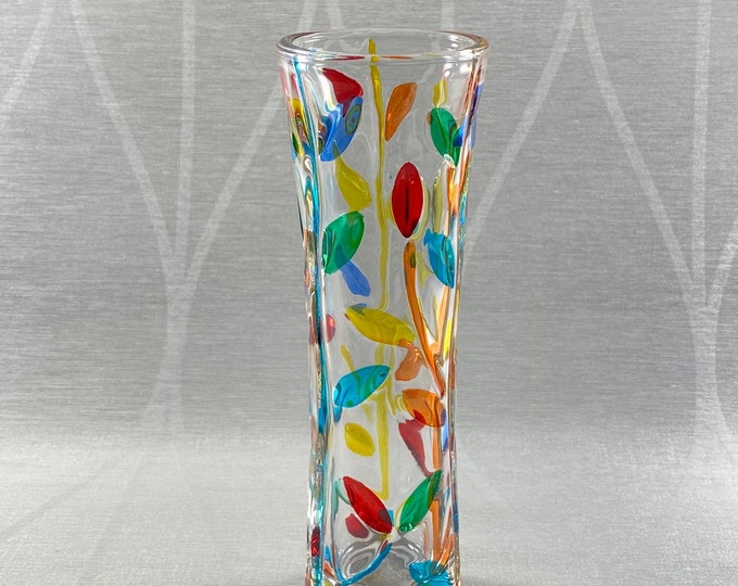 Venetian Glass Vase - Handmade in Italy, Colorful Murano Glass Vase, Multiple Styles