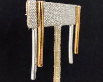 Vertical Bar Dangle Earrings, Wear 2 Ways - Handmade in Canada, Anne-Marie Chagnon Jewelry
