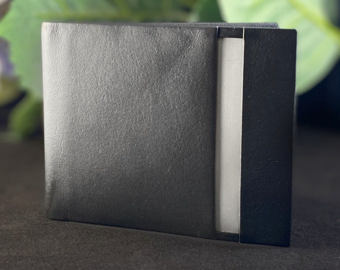 Stewart Stand Leather and Stainless Steel RFID Protection Wallet - Bifold