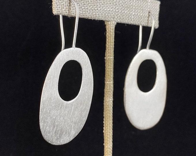 Chunky Silver Drop Earrings - Handmade Nickel Free Ulla Jewelry