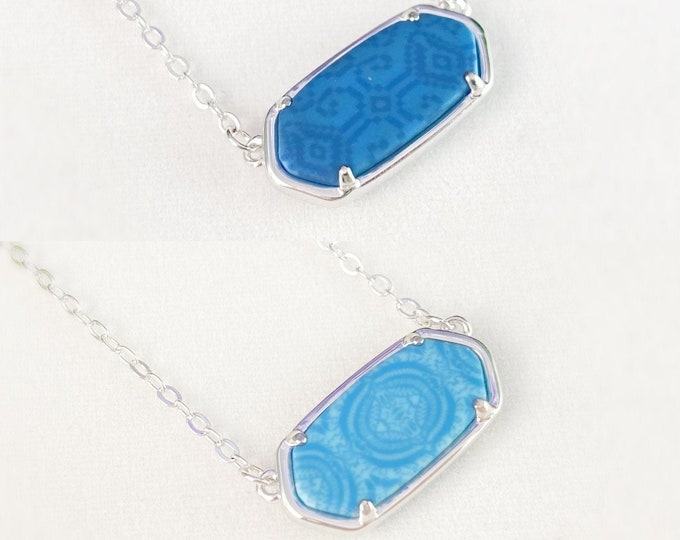 Reversible Polymer Clay Handmade Necklace