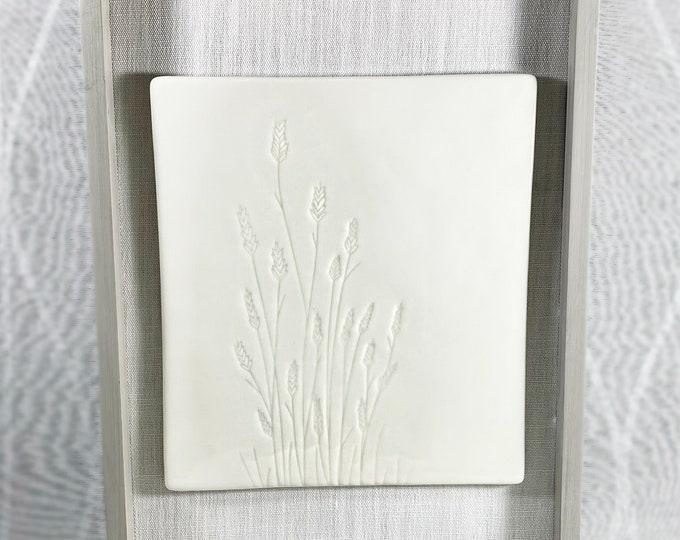 Glossy White Ceramic Floral Decor for Wall/Tabletop, Neutral Minimal Style