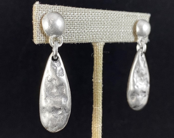 Chunky Silver Post Earrings - Handmade Nickel Free Ulla Jewelry