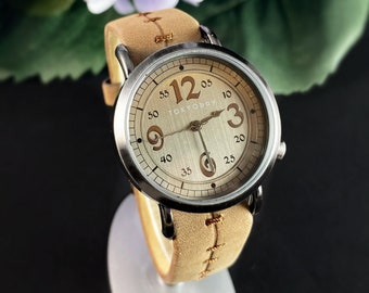 Women's Watch, Brown Leather Band, Silver Case - TOKYObay