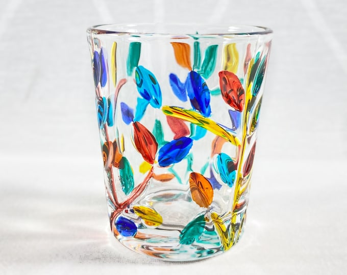 Venetian Glass Shot Glass - Handmade in Italy, Colorful Murano Glass