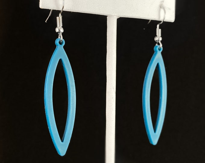 Flexible Lightweight Earrings - Teal