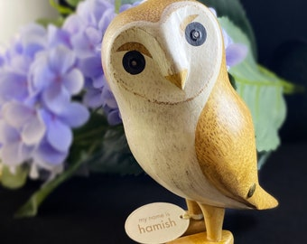 Hand-carved and Hand-painted Bamboo Owls, Multiple Styles