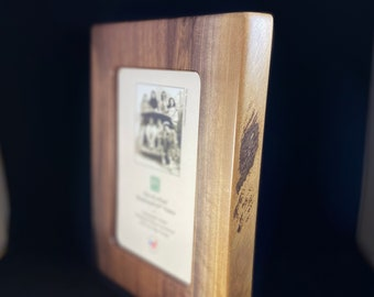 Handmade Wooden 5x7 Picture Frame, Made in USA, Sustainable Materials