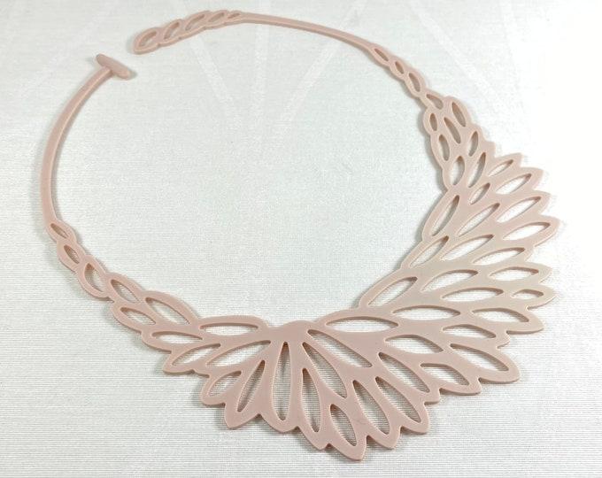 Flexible Lightweight Necklace - Pink