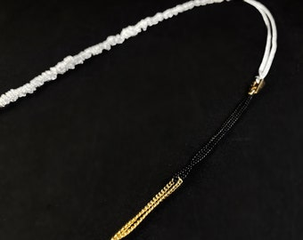 Silver, Gold, and Black Chain Necklace - Handmade in Canada, Anne-Marie Chagnon Jewelry