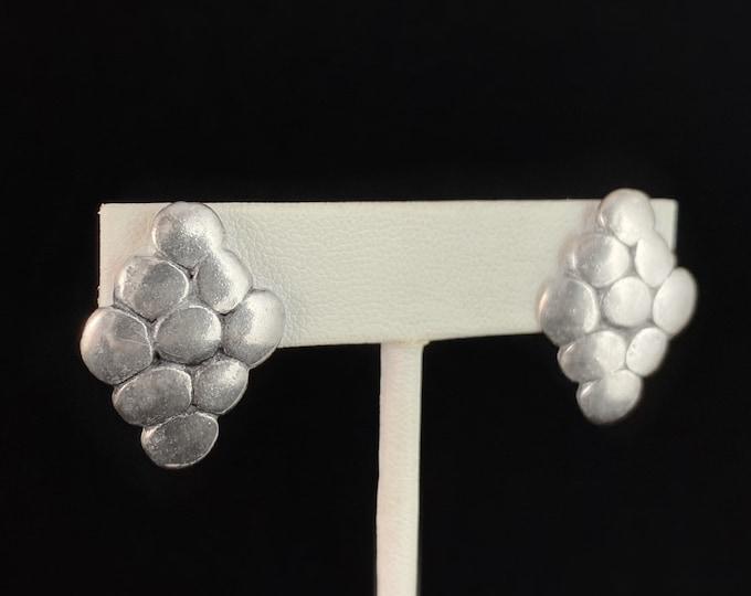 Silver Post Earrings, Handmade Nickel Free