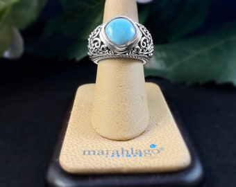 Marahlago Larimar and Sterling Silver Ring size 7