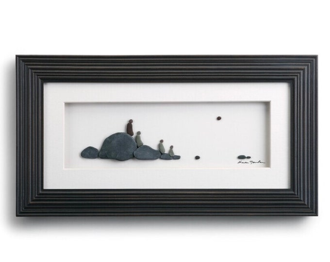 Four of Us, Sharon Nowlan Pebble Art