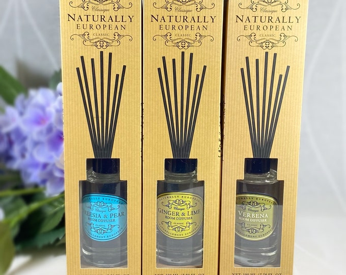 Luxury Room Diffuser - Verbena, Freesia and Pear, Ginger and Lime - Cruelty free, no animal testing