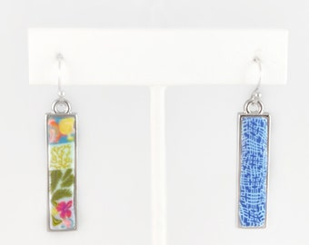 Reversible Polymer Clay Handmade Earrings