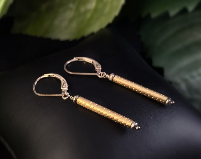 J and I Handmade Gold Drop Earrings