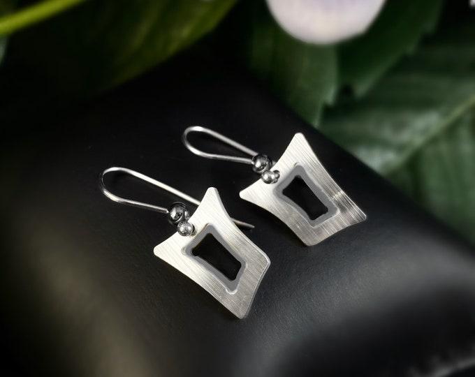 JR Franco Handmade Aluminum Small Geometric Earrings Hypoallergenic Lightweight