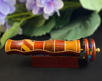 N and J Handmade Wooden Kaleidoscope with Padauk Marquetry