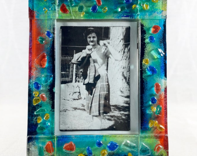 Colorful Glass 4x6 Picture Frame