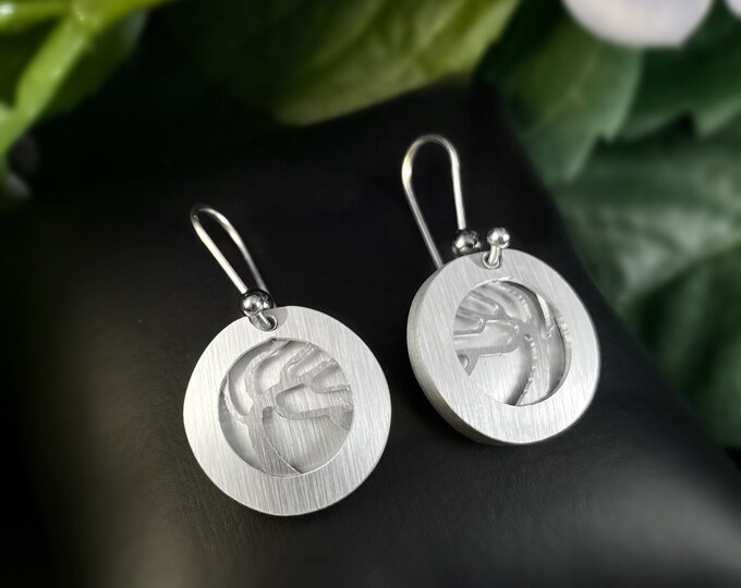 JR Franco Handmade Aluminum Tree of Life Earrings Hypoallergenic Lightweight