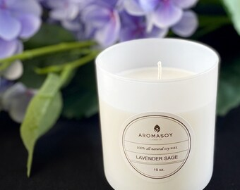 AromaSoy Nontoxic Handmade Soy Candle 10oz