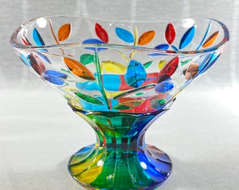 Venetian Glass Dish - Handmade in Italy, Colorful Murano Glass Bowl