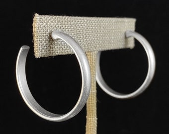 Simple Silver Hoop Earrings - Handmade Nickel Free Ulla Jewelry