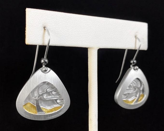 Handmade Aluminum Tree of Life Earrings, Hypoallergenic Lightweight - JR Franco Jewelry