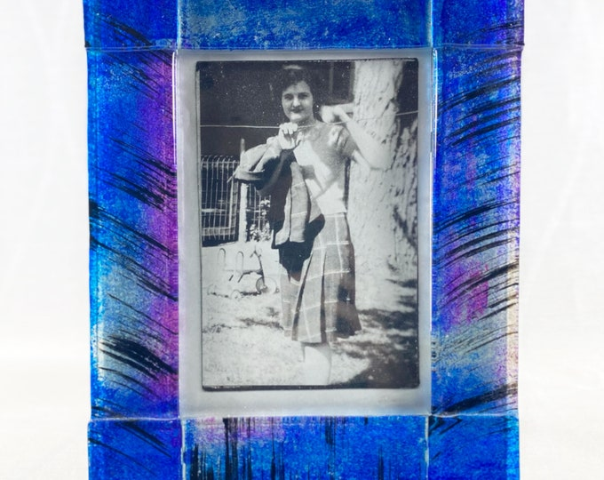 Colorful Glass 5x7 Picture Frame