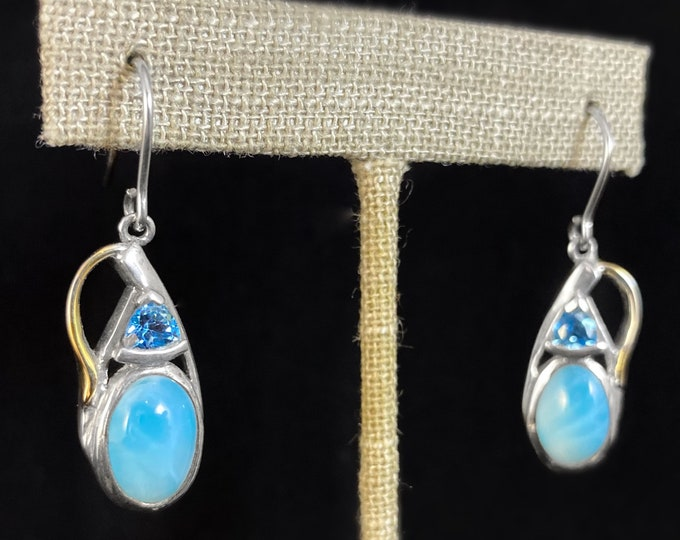 Marahlago Larimar and Sterling Silver Lena Earrings